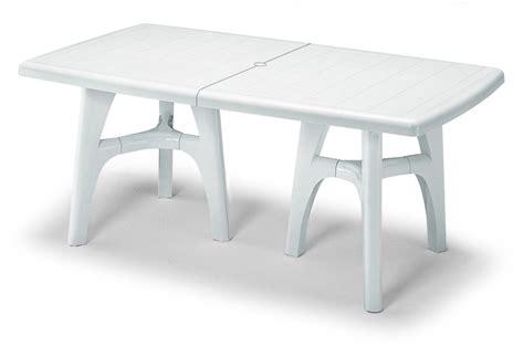 tavoli da giardino allungabili in plastica tavolo resina president tris allungabile lamacchia mobili