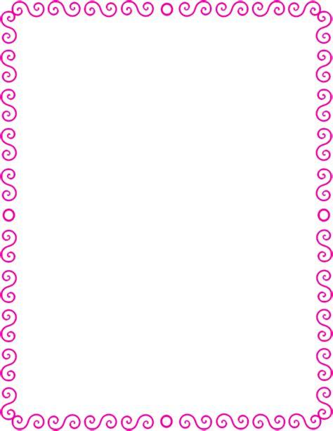 s spiral border pink page frames spiral border s spiral