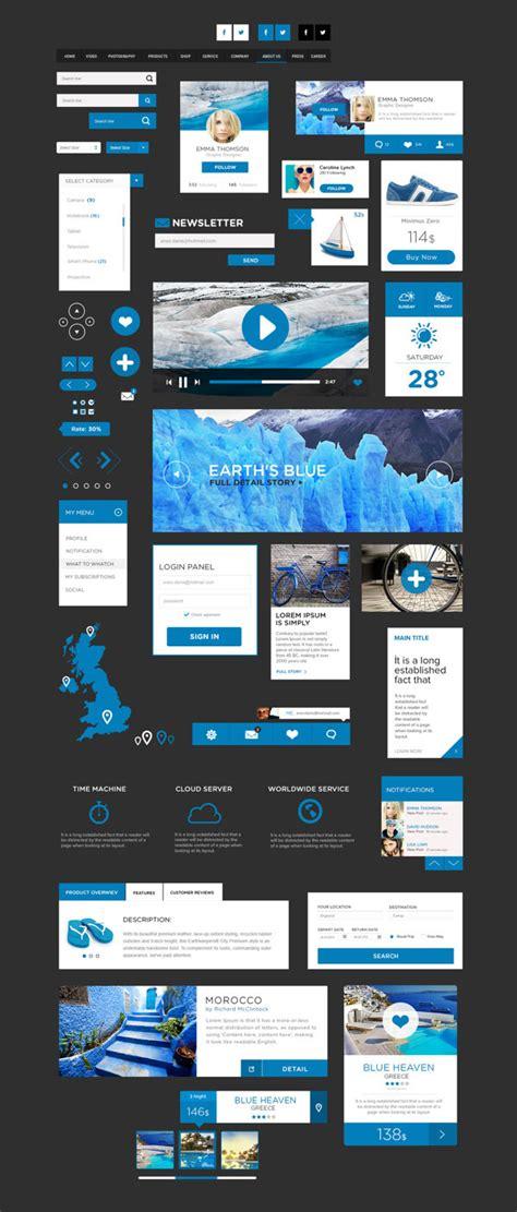 design ui elements 20 free best web ui elements mobile gui design kits of 2014