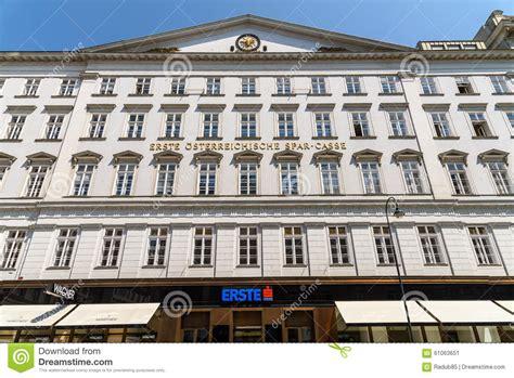 erste bank vienna erste bank ag in vienna editorial photo image
