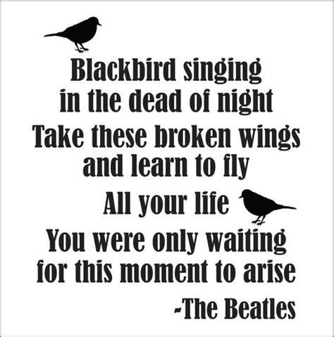 black beatles lyrics blackbird beatles song lyrics wall decal new by