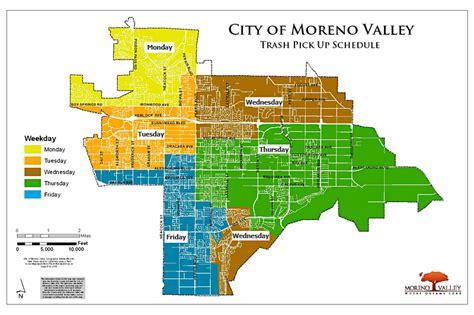 moreno valley california map moreno valley trash collection map