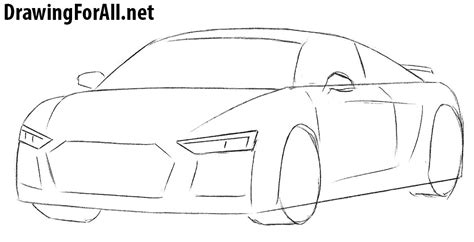 cartoon audi r8 how to draw an audi r8 drawingforall net
