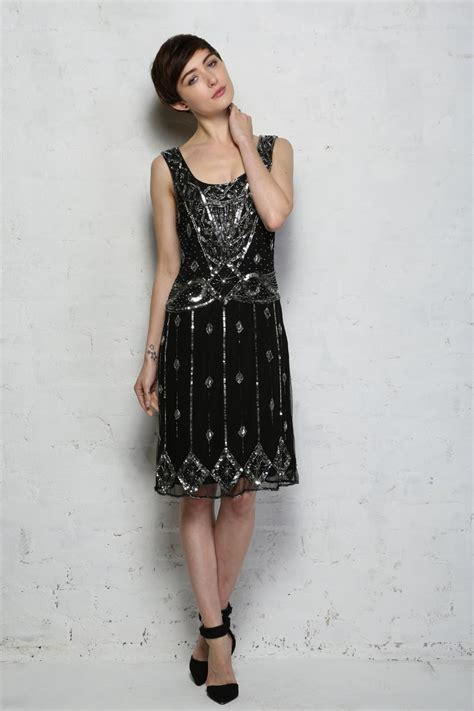 beaded flapper dress black beaded flapper dress sequinned evening dresses