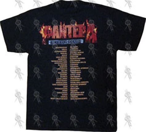 Pantera Reinventing The Steel Japan Pressing pantera black reinventing the steel us tour t shirt clothing shirts records
