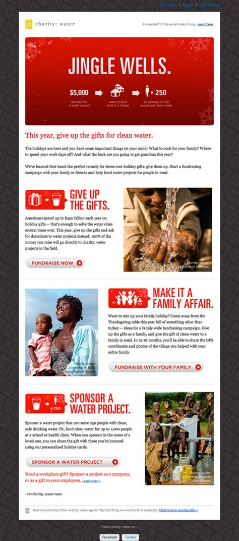 charity newsletter template creating html emails how to and design inspiration