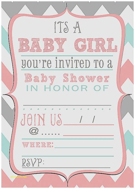 Printable Baby Shower Invitations For by Baby Shower Invitation Fresh Free Printable Baby Shower