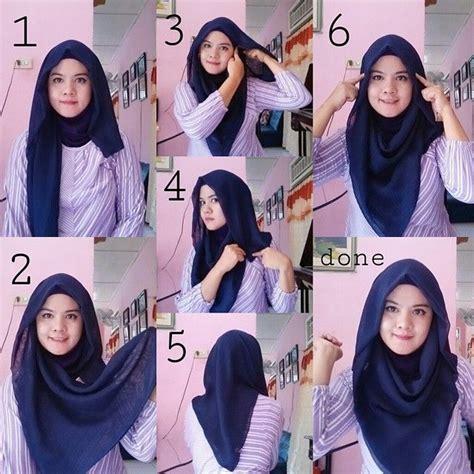 tutorial hijab segi empat praktis hijab collection