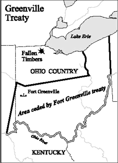 map of greenville map of ohio country showing the land ceded by