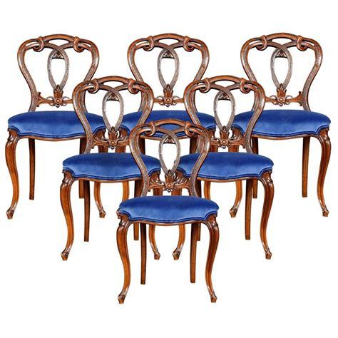 set   victorian walnut dining room chairs  sale