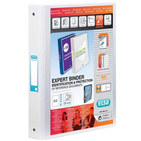 Bantex Data Ring Binder 4 Ring 9 12 X 11 Kapasitas 35mm Ref1593 elba vision a4 white 4 ring binder pvc 100080879 huntoffice ie