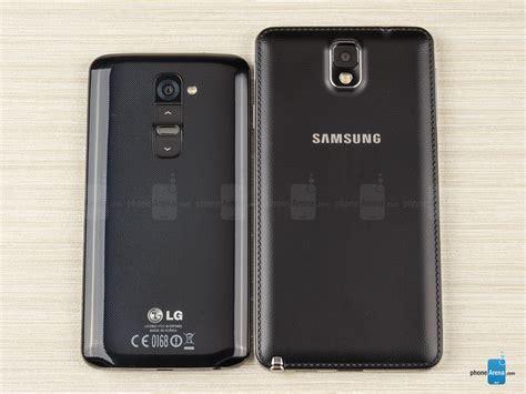 samsung vs lg samsung galaxy note 3 vs lg g2 phonearena
