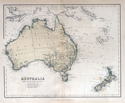 map of australia and nz australia new zealand 1870 map custom wallpaper