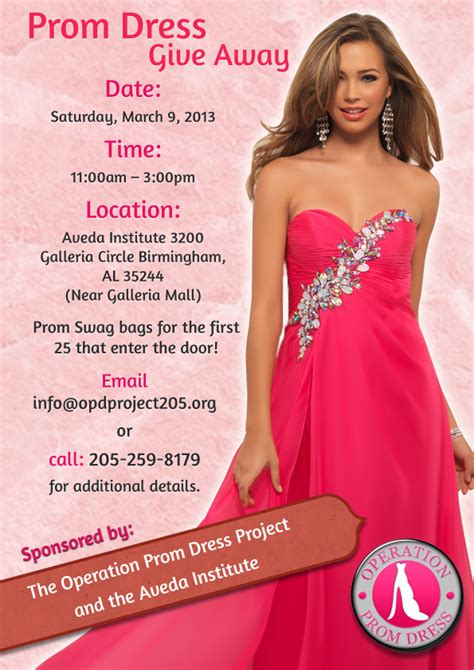 Dress Flyer events operation prom dress