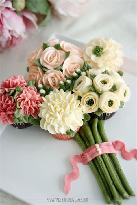 floral arrangement cupcake tutorial cupcake bouquet of flowers on cake central cake decorating
