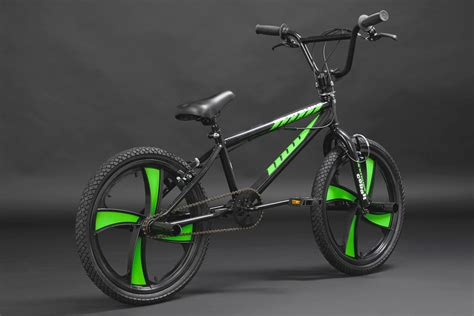 green cycling freestyle bmx quot cobalt quot neon green mag wheels 360 176 rotor 20