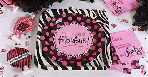 Fierce Fabulous And Forty Decorations by Fierce Fabulous And Forty Decor Ideas Themes
