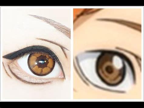 tutorial makeup hinata hinata shoyo tutorial anime eye makeup 207 youtube