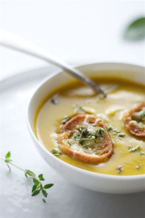 Winter Squash Soup Smitten Kitchen by Winter Squash Soup With Gruyere Croutons Recipe Dishmaps