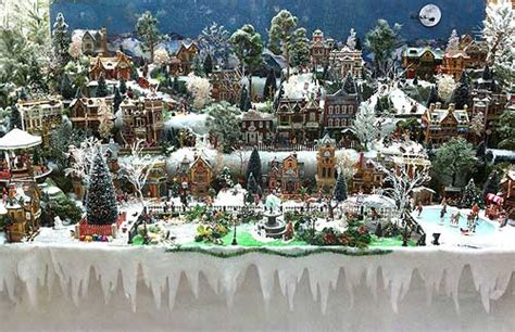 building display stands christmas village displays