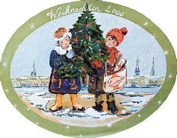 garten 2000 weihnachtsbaum luise beyer malerei