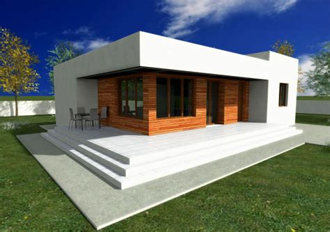 small home modern design plans single story modern house plans