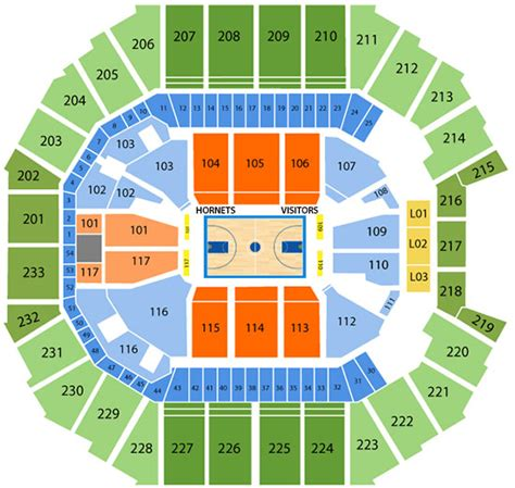 time warner seating chart hornets seating chart time warner cable arena