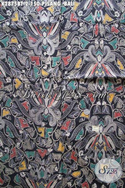 Kain Katun Batik produk kain batik klasik bahan katun halus motif pisang