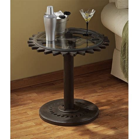 cave end table steunk end table cave industrial