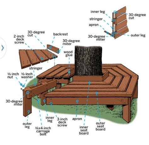 how to make a bench around a tree best 25 bench around trees ideas on pinterest patio