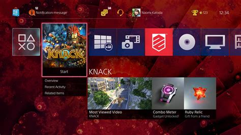 playstation 4 update brings usb player home screen