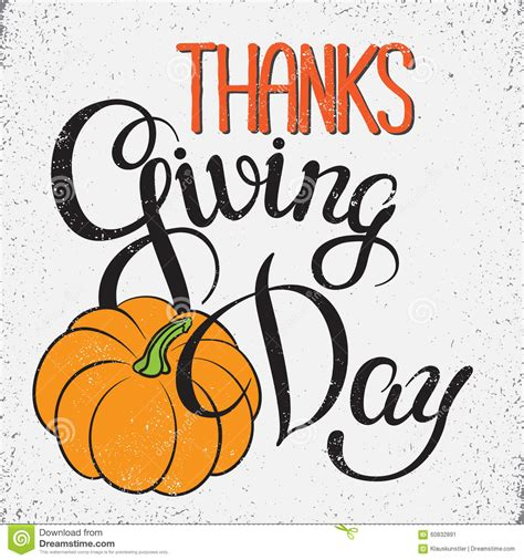 thanksgiving day poster stock vector image 60832891
