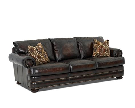 klaussner sofa uk klaussner montezuma leather sofa with rolled arms dunk