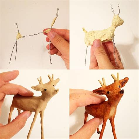 Make Animal Sculptures With Paper Mache Clay - 17 best ideas about paper mache on paper mache