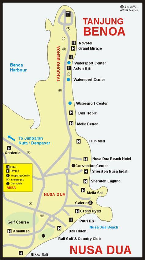 map of bali nusa dua nusa dua area web site information map