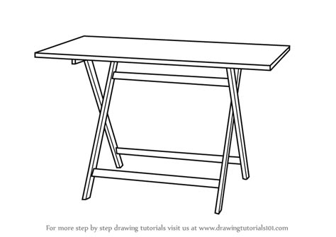 a drawing table learn how to draw a folding table furniture by