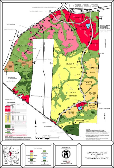 layout of land use conceptual land use master plan for morgan tract dempsey