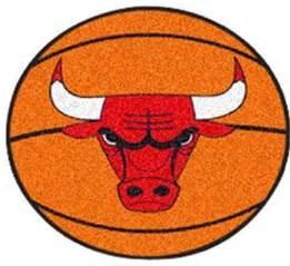 nba chicago bulls rug basketball shaped contemporary