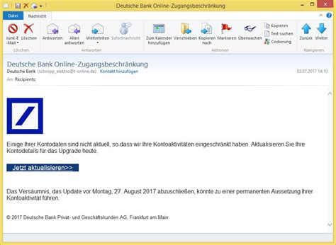 deutsche bank onine banking deutsche bank zugangsbeschr 228 nkung deutsche bank