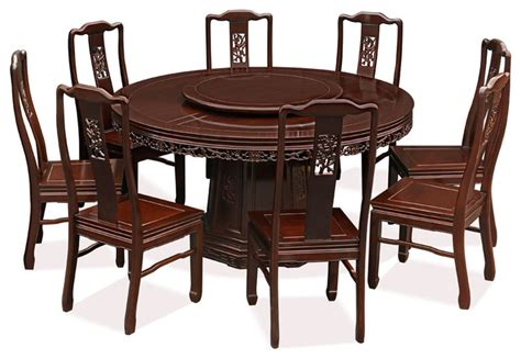chinese style rosewood dining set   chairs