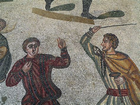 the in rome in the masters of rome mosaic villa piazza armeria sicily italy mosaic