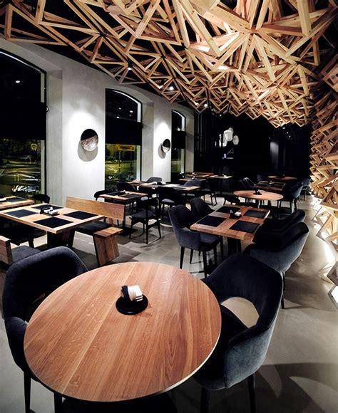 kido sushi bar by da architects interiorzine