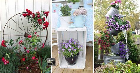 decorare il giardino riciclo creativo per decorare il giardino ecco 20 idee da
