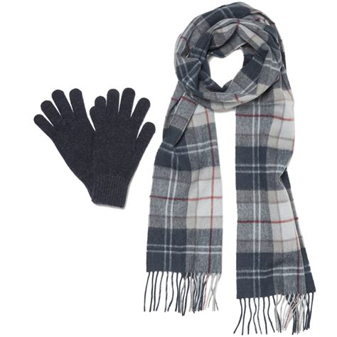 barbour s scarf and gloves set a navy womens accessories thehut
