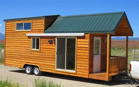 spacious prefab cabin on a trailer