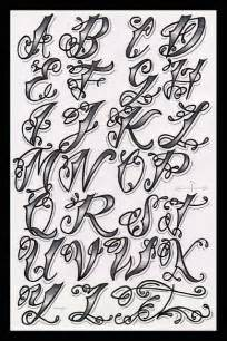 tattoos designs names letter fonts alphabet