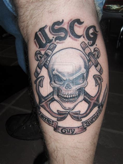 coast guard tattoo united states coast guard skull memorial by