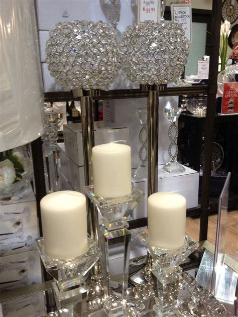 beautiful crystal candle holders    bowring   home home decor home decor