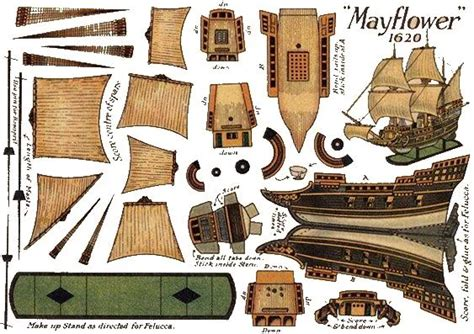 Papercraft Pirate Ship - mayflower papercraft printables