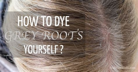 grey roots on highlighted hair how to color your hair yourself and cover those grey roots